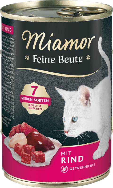 Консервы для кошек - Miamor Feine Beute Beef, 400 г title=