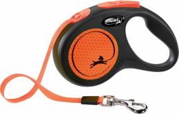Поводок-рулетка для собак - Flexi New Neon Tape S, 5м, orange