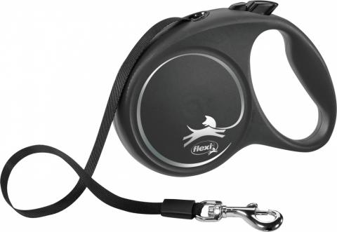 Inerces pavada suņiem - Flexi Black Design M Tape 5m, black title=