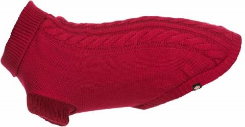 Джемпер для собак - Trixie Kenton pullover, M, 45 см, красный title=