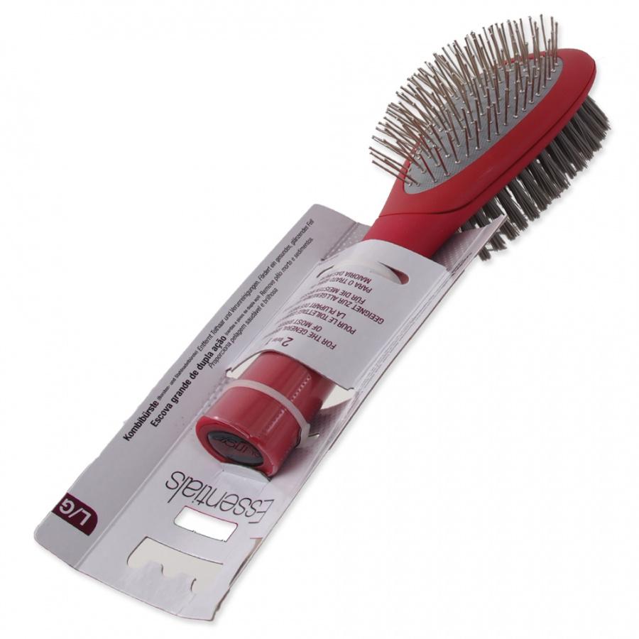 Ķemme suņiem – Le Salon, Essentials Dog Bristle and Steel Pin Combo Brush, Large
