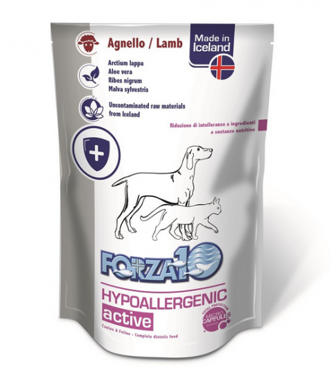 Veterinārie konservi kaķiem un suņiem - FORZA10 ACTIVE LINE Hypoallergenic ActiWet with lamb, 100 g title=