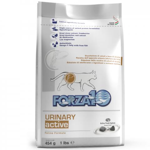 Veterinārā barība kaķiem - FORZA10 ACTIVE LINE Urinary Active, 454 g title=