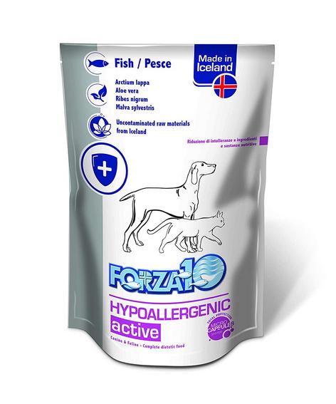 Veterinārie konservi kaķiem un suņiem - FORZA10 ACTIVE LINE Hypoallergenic ActiWet with fish, 100 g title=