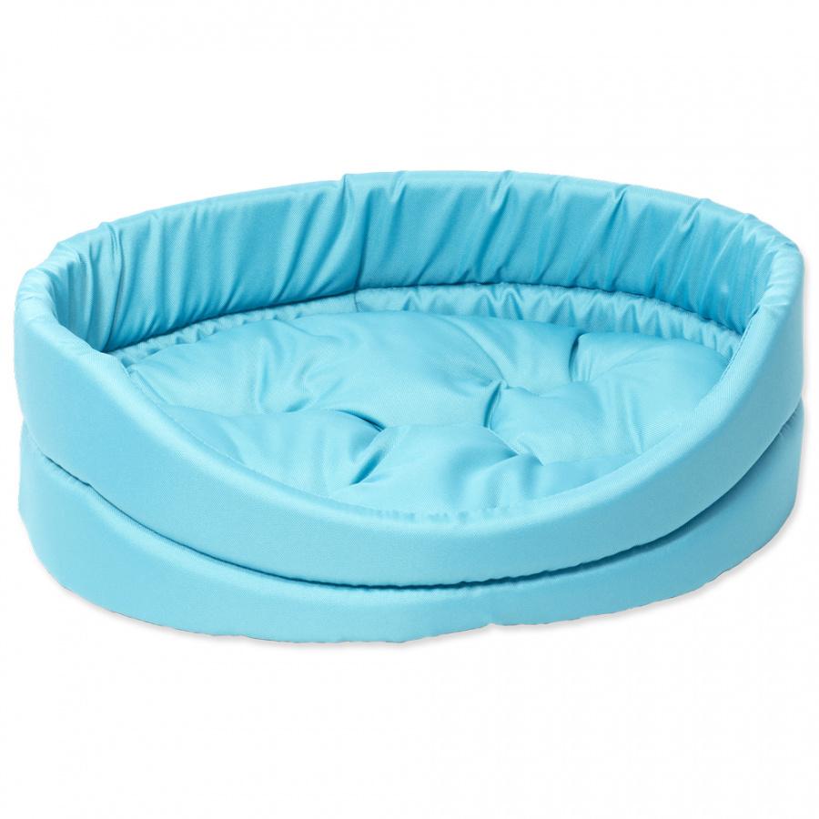 Guļvieta suņiem - DogFantasy DeLuxe oval bed, 42 x 34 x 14 cm, turquoise