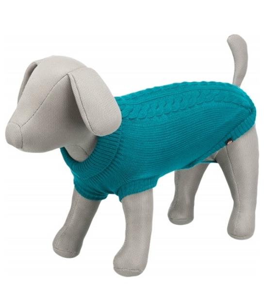Джемпер для собак - Trixie Kenton pullover, M, 45 см, голубой