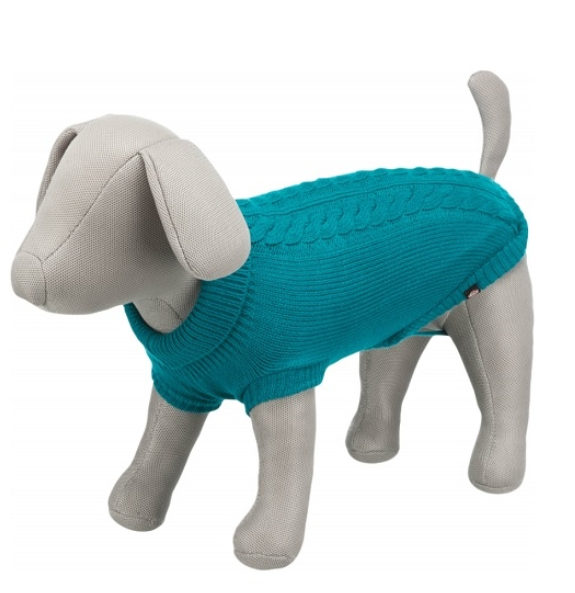 Джемпер для собак - Trixie Kenton pullover, S, 33 см, голубой