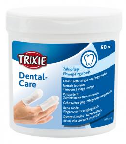 Салфетки для чистки зубов – TRIXIE Fingerlings for tooth care, 50 шт.
