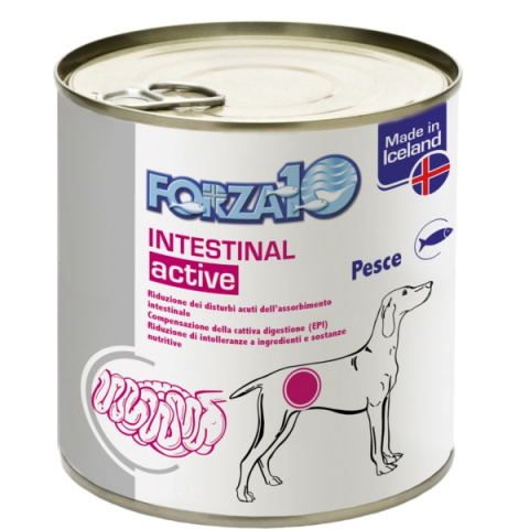 Veterinārie konservi suņiem – FORZA10 ACTIVE LINE Intestinal ActiWet, 390 g title=