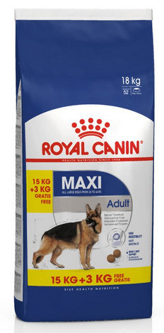 Barība suņiem - Royal Canin Maxi adult, 15+3 kg