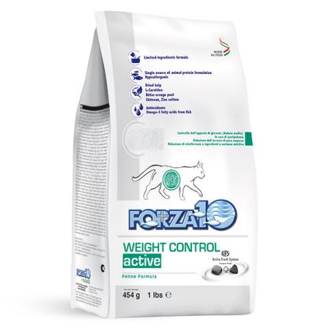 Veterinārā barība kaķiem - FORZA10 Weight Control Active, 454 g title=
