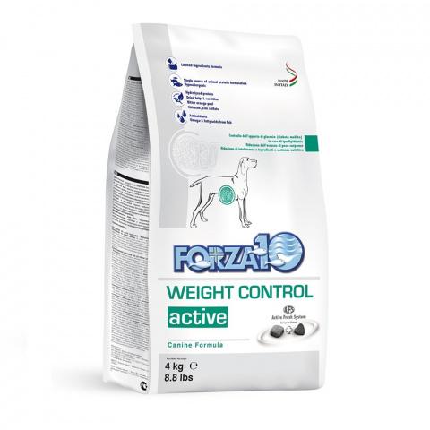 Veterinārā barība suņiem – FORZA10 ACTIVE LINE Weight control, 4kg title=