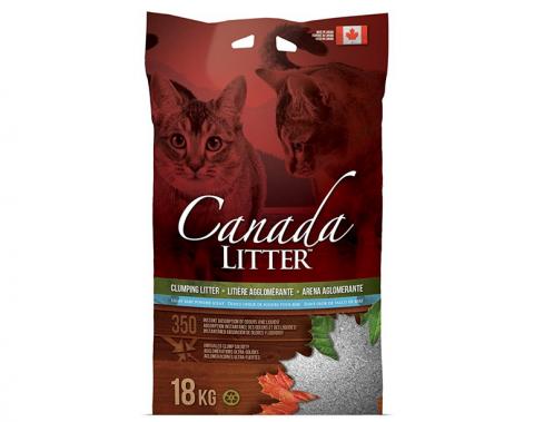 Cementējošās smiltis kaķu tualetei - Canada Litter, 18 kg title=