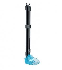 Šaufele atkritumu savākšanai – TRIXIE Dustpan with Rake, 60–107 cm, Grey/Blue