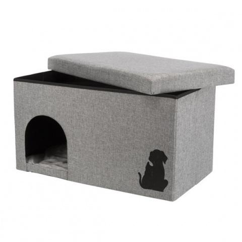 Guļvieta suņiem un kaķiem – TRIXIE Kimy Cuddly Cave, 72 x 40 x 40 cm title=
