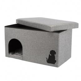 Спальное место для кошек и собак - Trixie Kimy Cuddly Cave, 72x40x40см, светло-серый цвет