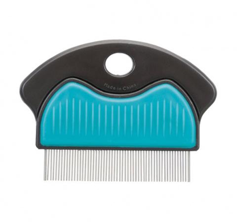 Ķemme blusu izķemmēšanai – Trixie Flea and Dust Comb, metal, 7 cm title=