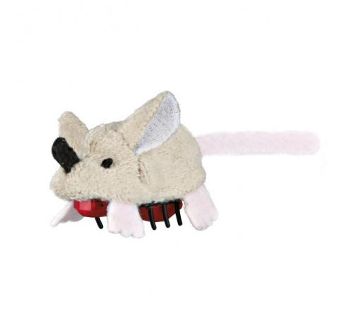 Игрушка для кошек - Trixie Gerbil Running Mouse, plush, 5,5 см title=