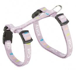 Шлейка для котят - Trixie Junior Kitten harness with leash, Kitty Cat motif, 21–33 см/8 мм, 1,20м, разные цвета