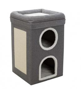 Mājiņa kaķiem – TRIXIE Saul Cat Tower, 39 x 39 x 64 cm, Grey