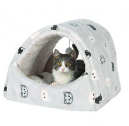Лежанка для кошек – TRIXIE Mimi Cuddly Cave, 42 x 35 x 35 см, Grey