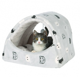 Спальное место для кошек - Trixie Mimi cuddly cave, 42X35X35 см, серый цвет