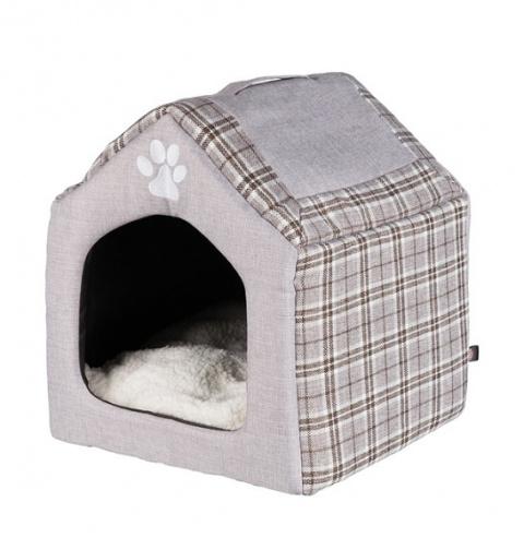 Guļvieta kaķiem un suņiem – TRIXIE Silas Cuddly Cave, 40 x 45 x 40 cm, Grey/Cream title=