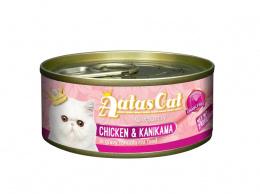 Konservi kaķiem – Aatas Cat Creamy, ar vistu un krabju nūjiņām, 80 g
