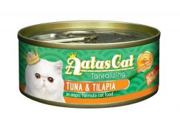 Konservi kaķiem – Aatas Cat Tantalizing, ar tunci un tilapiju, 80 g
