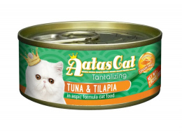 Консервы для кошек - Aatas Cat Tantalizing, с тунцом и тилапией, 80 г