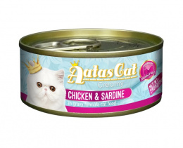 Консервы для кошек - Aatas Cat Creamy, с курицей и сардинами, 80 g