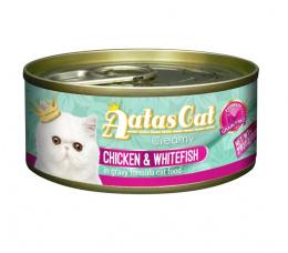 Konservi kaķiem – Aatas Cat Creamy, ar vistu un sīgu, 80 g