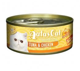 Konservi kaķiem - Aatas Cat Tantalizing, ar tunci un vistu, 80 g