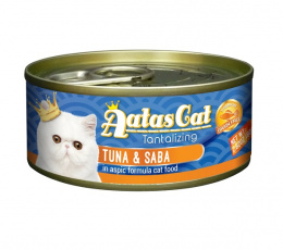 Konservi kaķiem - Aatas Cat Tantalizing, ar tunci un skumbriju, 80 g