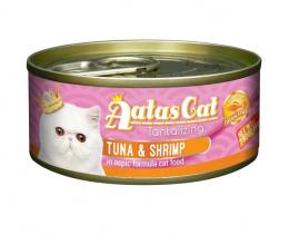 Konservi kaķiem - Aatas Cat Tantalizing, ar tunci un garnelēm, 80 g