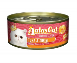 Konservi kaķiem - Aatas Cat Tantalizing, ar tunci un surimi, 80 g