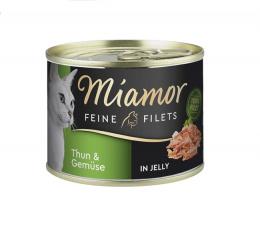 Konservi kaķiem - Miamor Filet, ar tunci un dārzeņiem, 185 g
