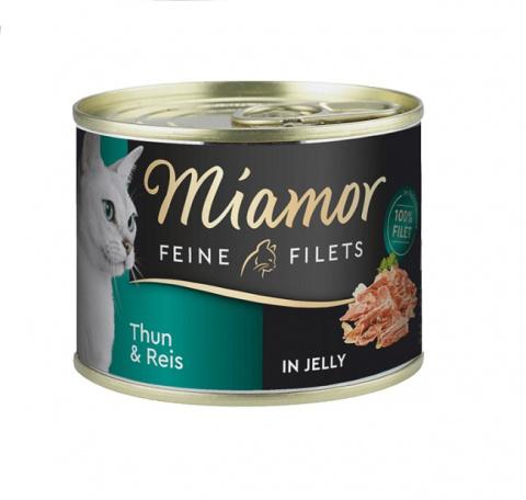 Konservi kaķiem - Miamor Filet, ar tunci un rīsiem, 185 g title=