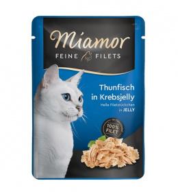 Konservi kaķiem - Miamor Feine Filet tuncis krabja želejā, 100 g