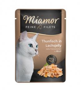 Konservi kaķiem - Miamor Feine Filet tuncis laša želejā, 100 g