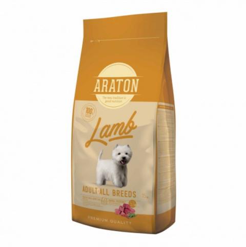 Barība suņiem - Araton Dog adult ar jēru un rīsiem, 15 kg title=