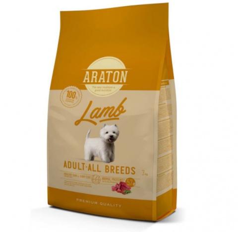 Barība suņiem - Araton Dog adult a jēru un rīsiem, 3 kg title=