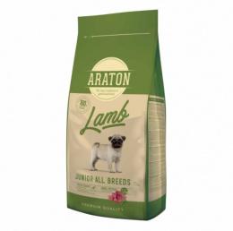 Barība kucēniem - Araton Dog Junior ar jēru un rīsiem, 15 kg