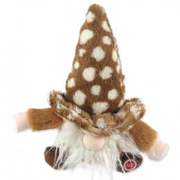 Игрушка для собак – Dog Fantasy Good's Plush Gnome, brown, 30 см