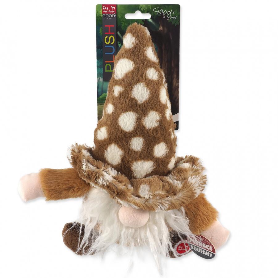 Игрушка для собак - Dog Fantasy, плюшевый гномик коричневого цвета, 30 см