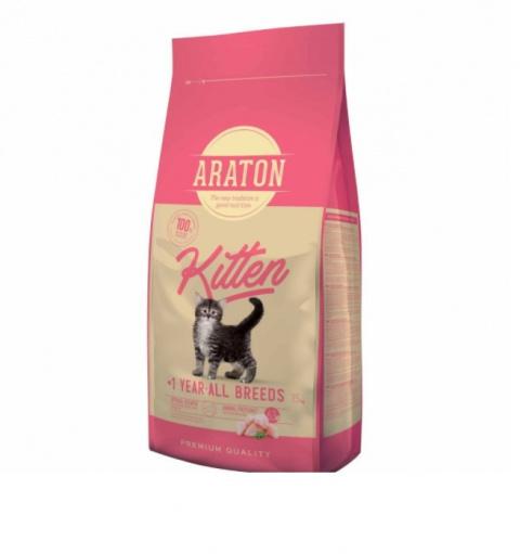 Barība kaķēniem - Araton Kitten, 15 kg title=