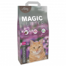 Цементирующий песок для кошачьего туалета - Magic Litter Bentonite Original Flowers, 5 кг