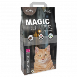 Цементирующий песок для кошачьего туалета - Magic Litter Bentonite Original, 5 кг
