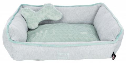 Guļvieta suņiem – TRIXIE Junior Bed, 50 x 40 cm, Grey/Mint title=