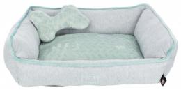 Guļvieta suņiem – TRIXIE Junior Bed, 50 x 40 cm, Grey/Mint